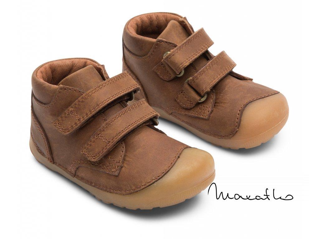 Bundgaard Petit Velcro - Brown - Celoročné topánky