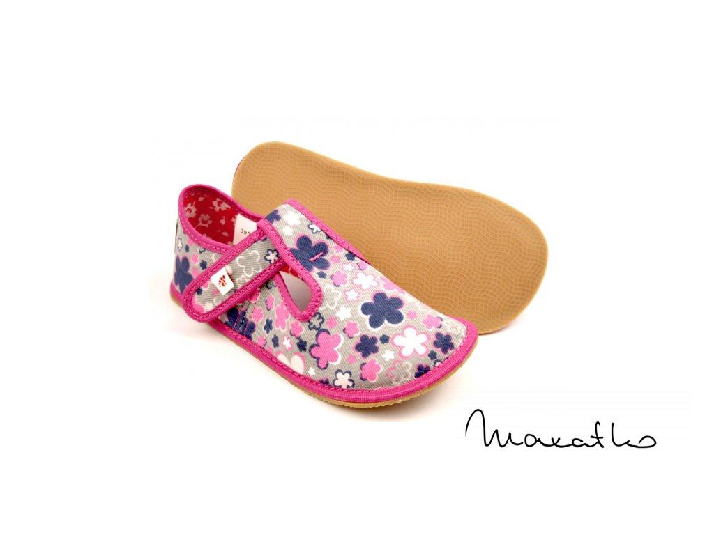 EF Barefoot 395 Kwiaty Fluo - Papuče