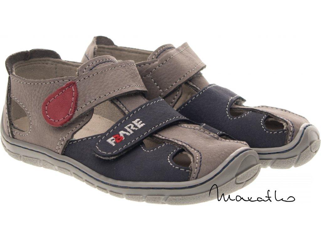Fare Bare Modro-sivé - 5161261 - Sandálky