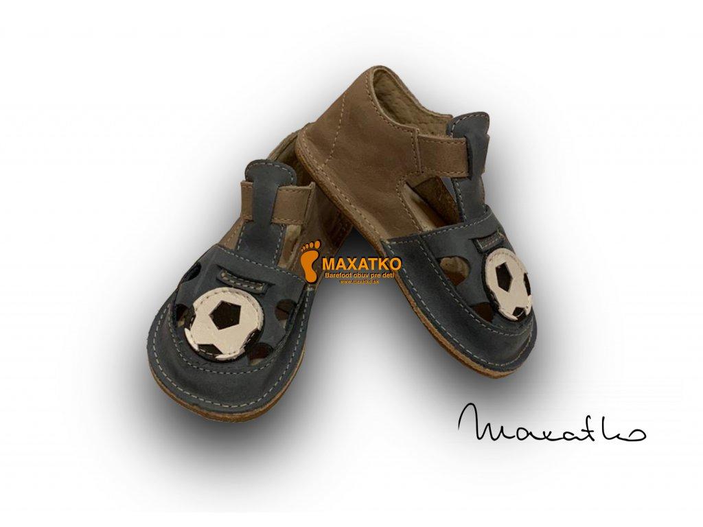 OrtoPlus / OkBarefoot - Ithaka - D205/G - Modro-sivé - Lopta - Sandálky