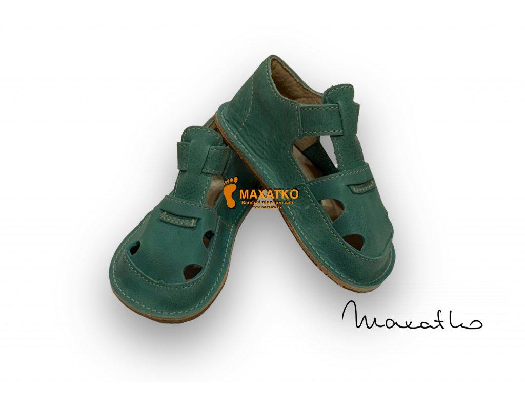 OrtoPlus / OkBarefoot - Ithaka - D205/H - Zelené - Sandálky