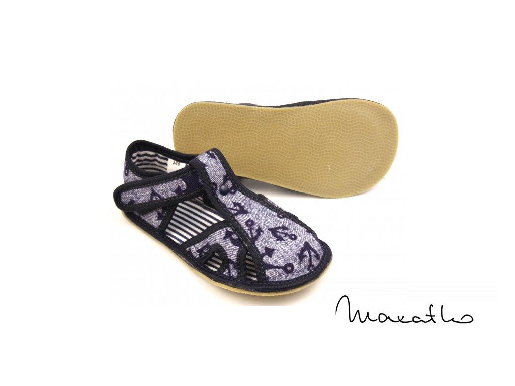 EF Barefoot 386 Jeans Kotwica - Papuče