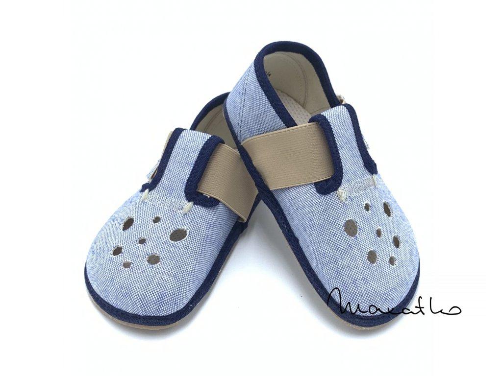 Pegres Barefoot BF03 Modré - Papuče