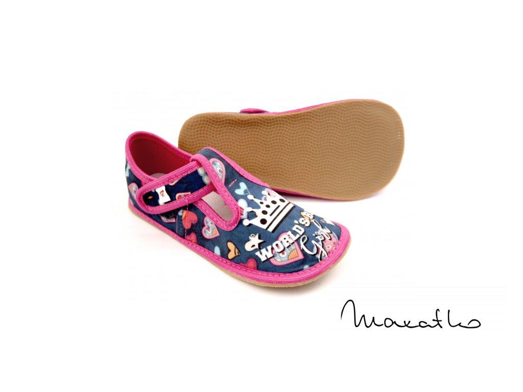 EF Barefoot 395 Niebesky World Girl - Papuče