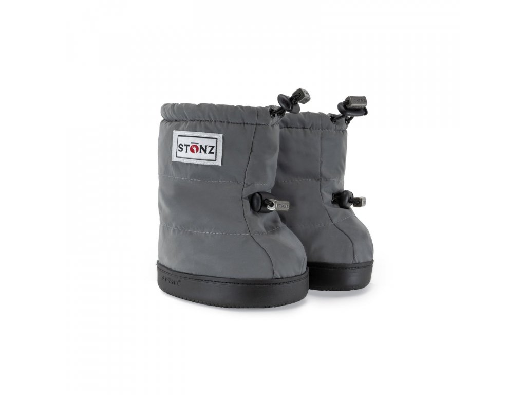Stonz Toddler Puffer Booties - Reflective Silver