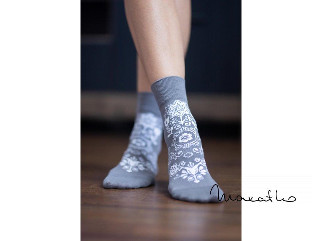 barefoot ponozky folk sive 4286 size large v 1