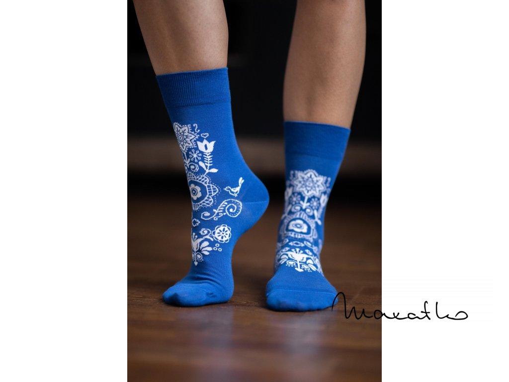 barefoot ponozky folk modre 4289 size large v 1