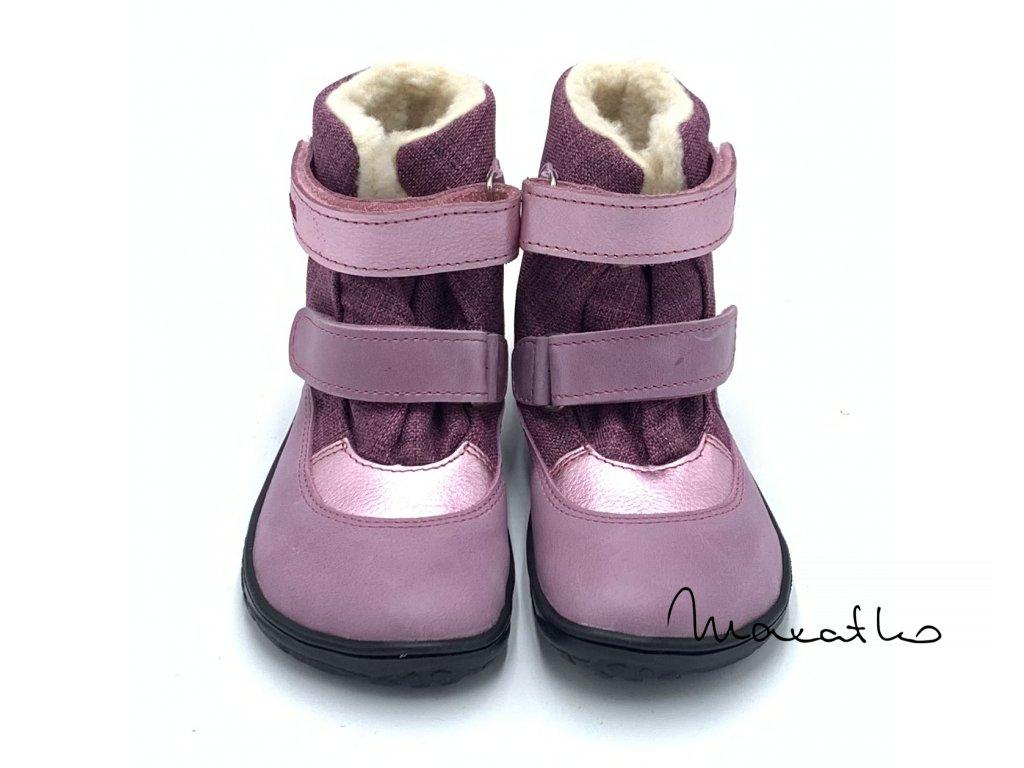 Fare Bare Bordové B - Zimné čižmy