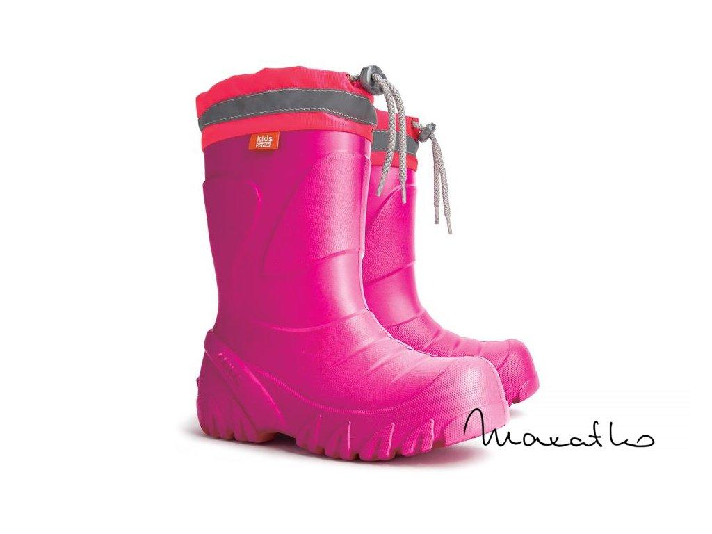 Demar Mammut S Ružové - Zateplené gumáky