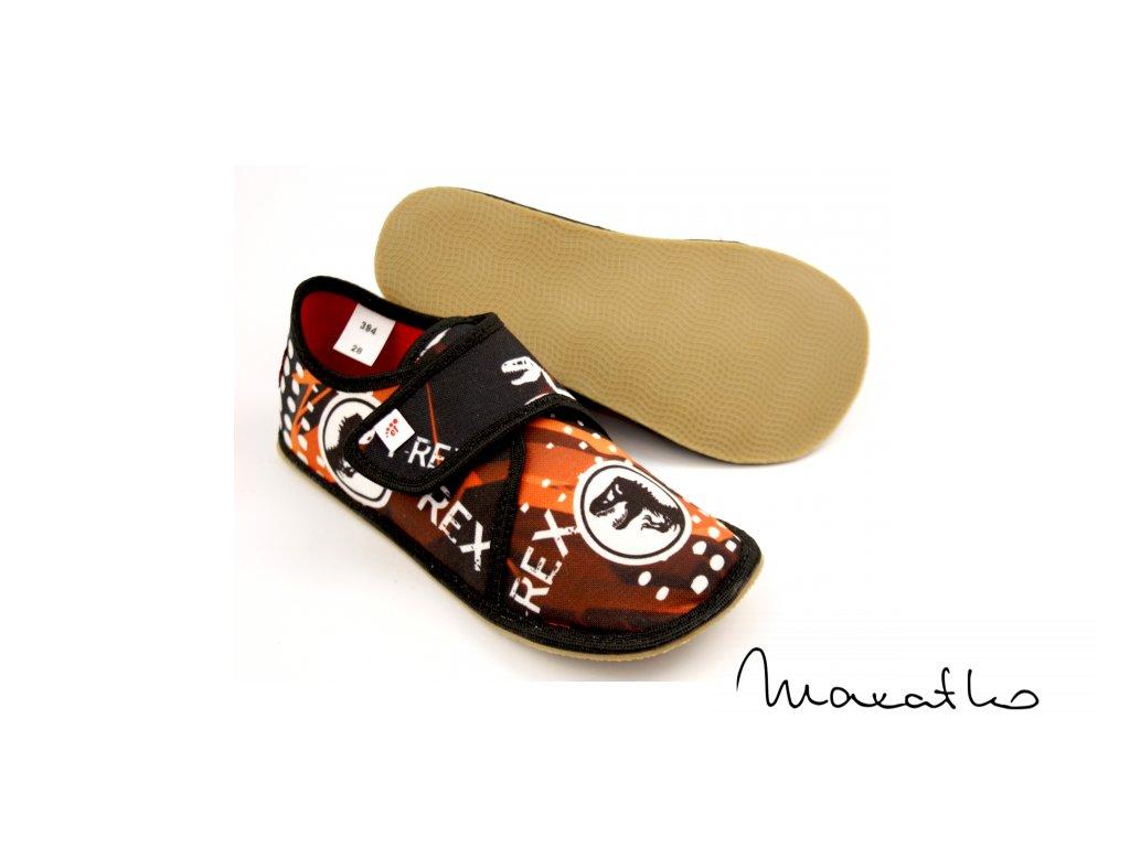 EF Barefoot 394 Czarny Trex - Papuče