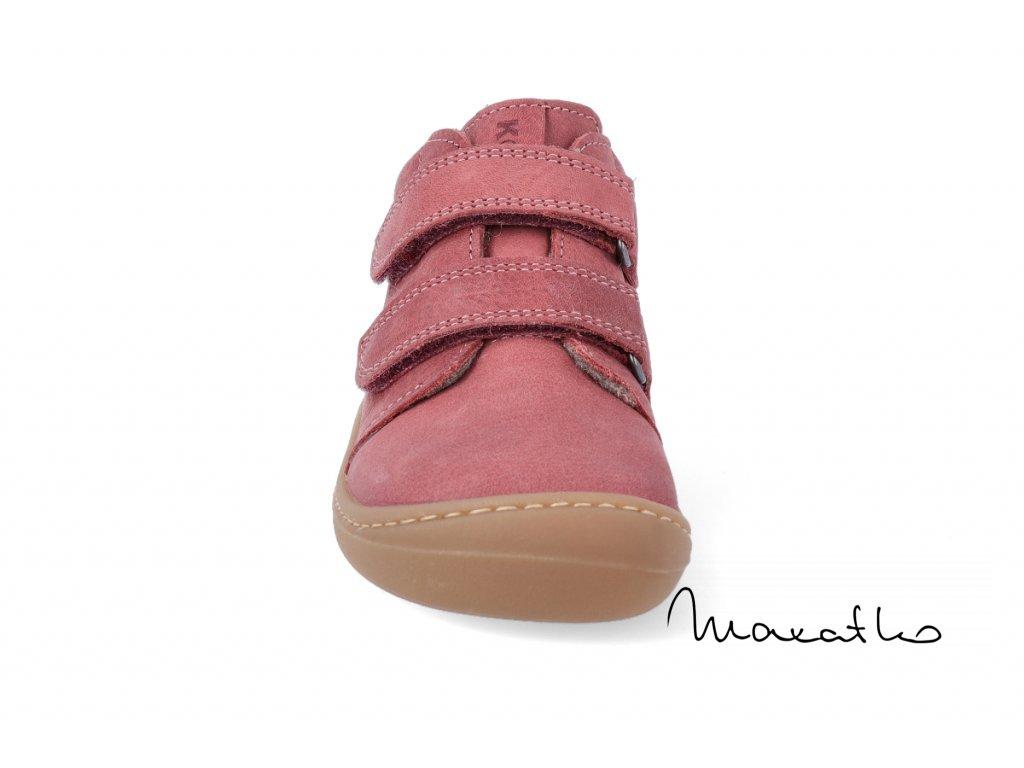 KOEL4kids Bernardo velour cyan camo - Celoročné topánkya