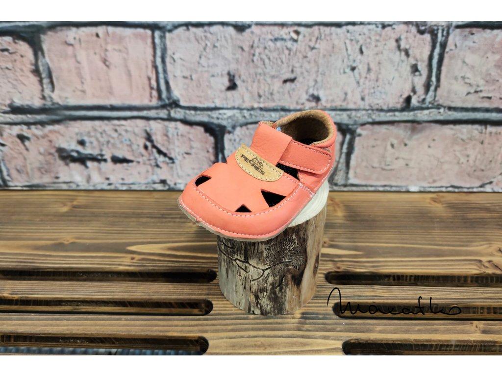 Pegres Barefoot Lososová - Sandálky