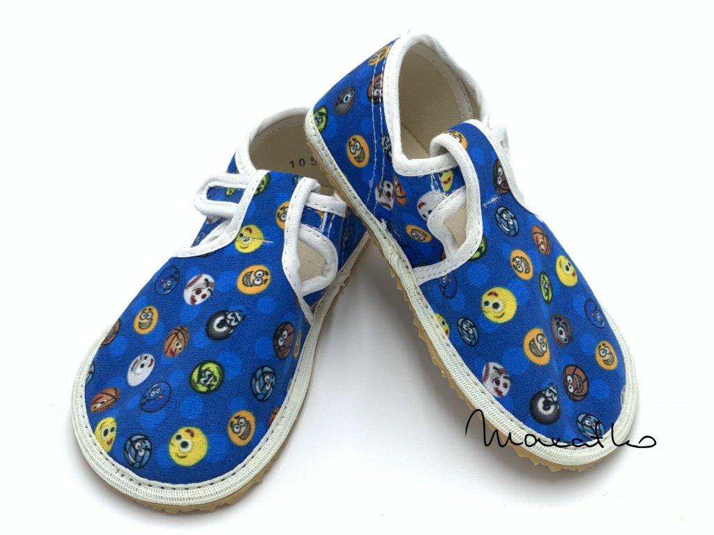 Jonap Modré - Loptičky - Papuče