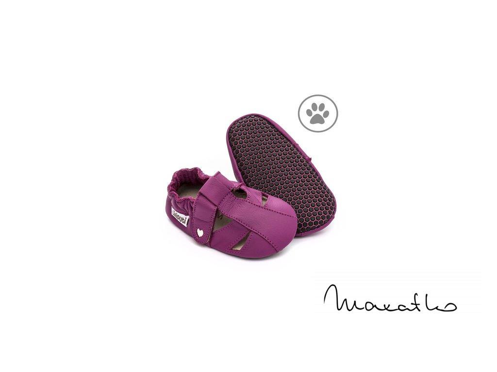 Liliputi Paws Fuchsia - Capačky / Sandálky