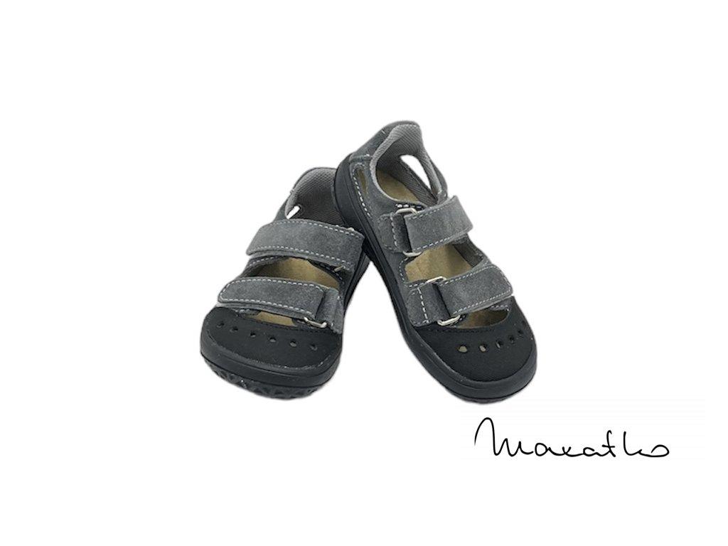 Jonap B9S Sivé kvety - Sandálky