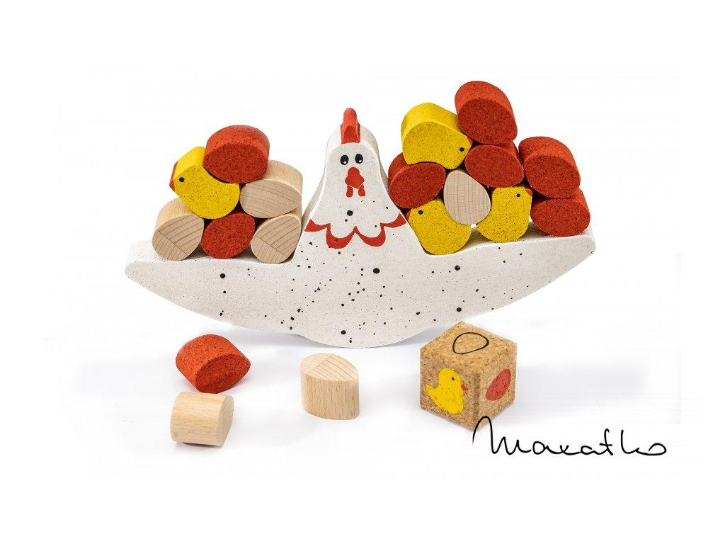 Korkii - Balančná hračka Sliepočka KIKO