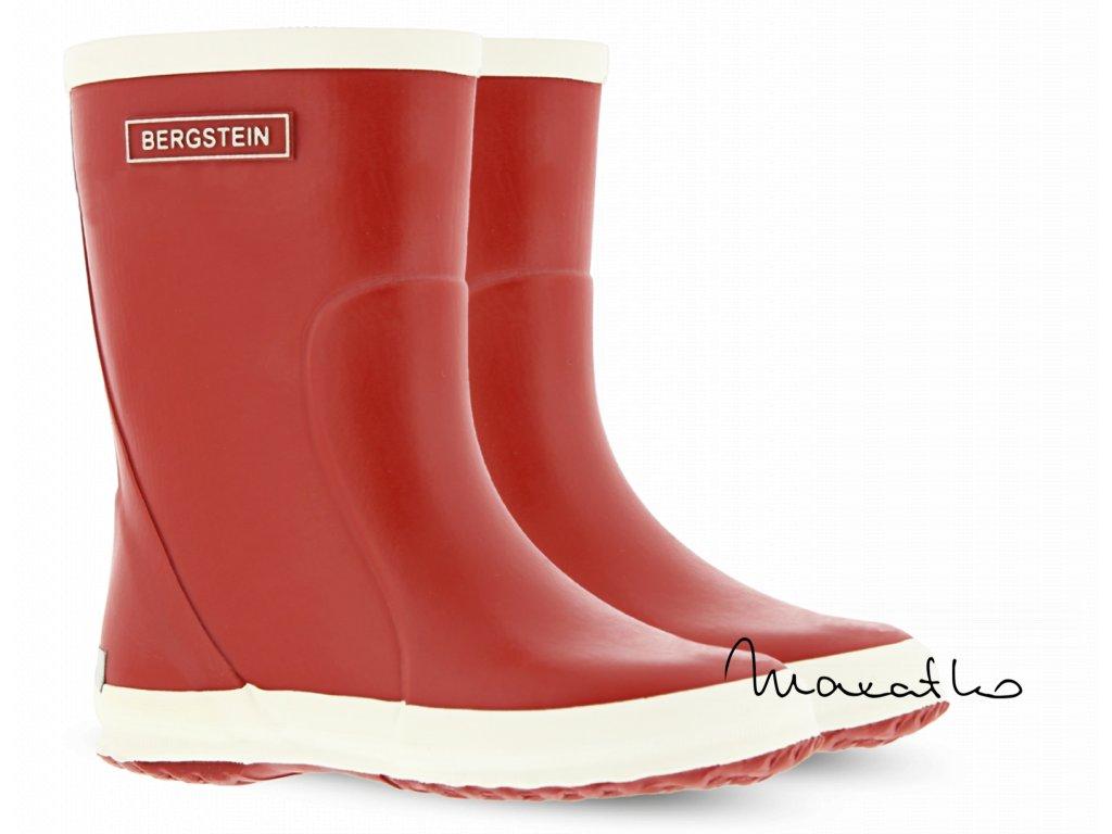 Bergstein Rainboot Red - Gumáky