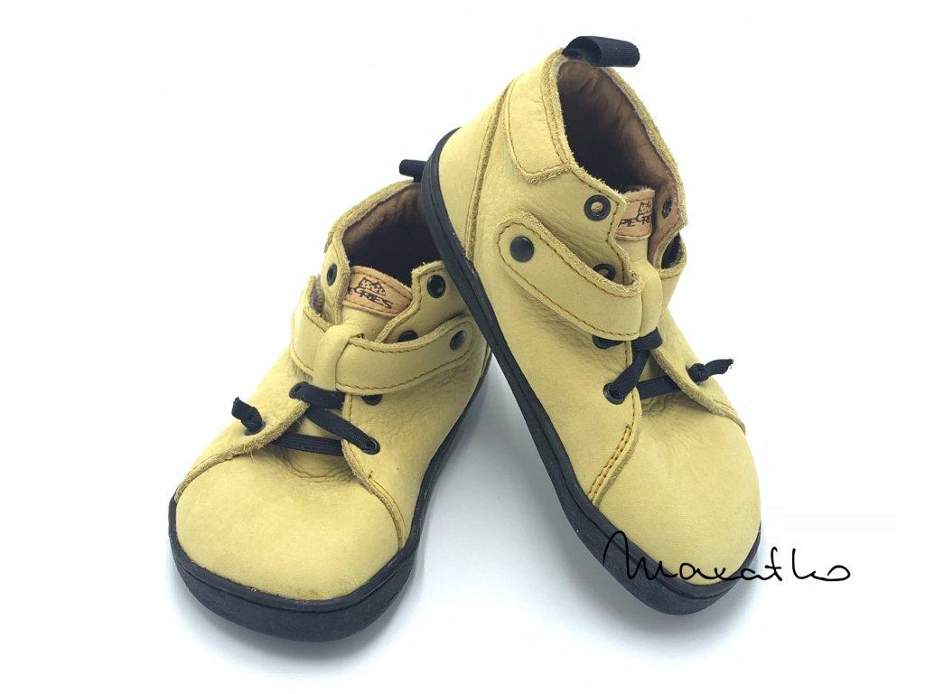 Pegres Barefoot BF52 Žlté - Celoročné topánky