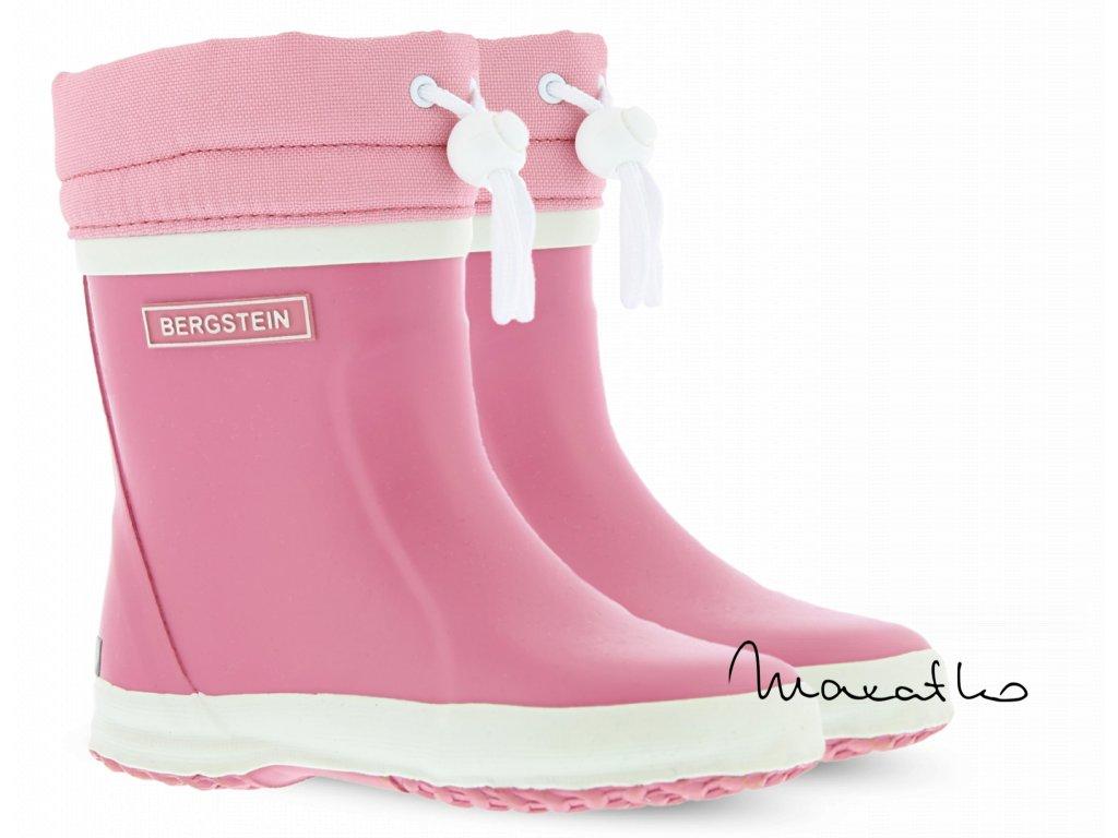 Bergstein Rainboot Winter Pink - Zateplené gumáky