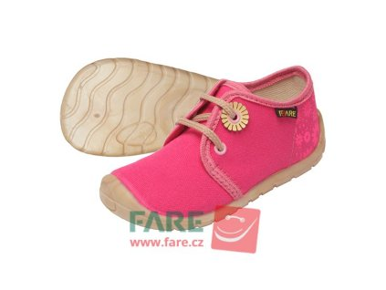 Fare Bare Prvé krôčky - Ružové - Plátenky