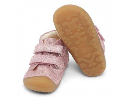 Bundgaard Petit Velcro - Pink Grille - Celoročná obuv