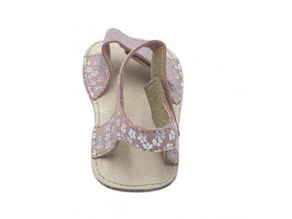OrtoPlus/OkBarefoot - Mirrisa - D203/H - Červené s kvietkami - Sandálky