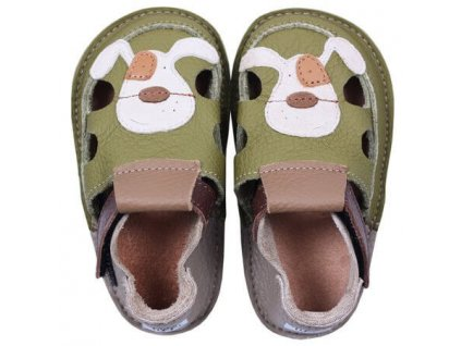 barefoot kids sandals smiley puppy 113 4
