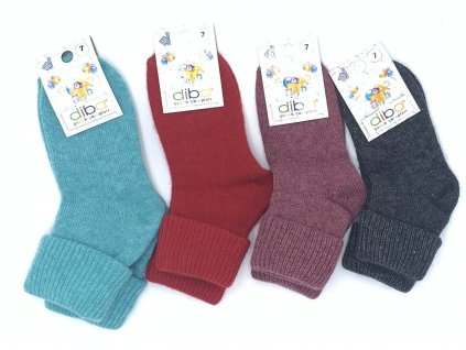 Diba - detské vlnené ponožky jednofarebné - veľkosť 29-31, EU 7
