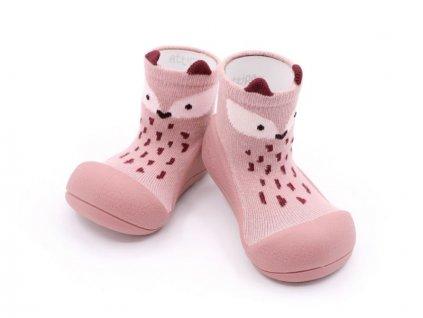 Attipas Animals Fox Pink - Capačky