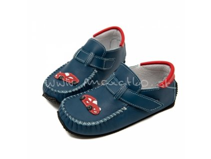 ZeaZoo Leo Blue with car - Celoročné topánky