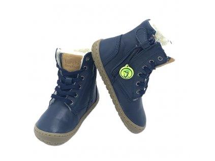 Lurchi Nik Nappa Navy - Zimné topánky