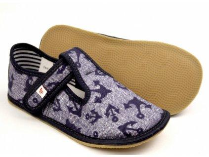 EF Barefoot 395 Jeans Kotwica  - Papuče