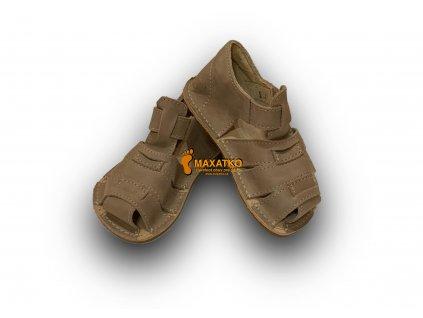 OrtoPlus / OkBarefoot - Palm - D201/G - Sivé - Sandálky