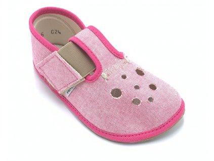 Pegres Barefoot Ružové - Papuče