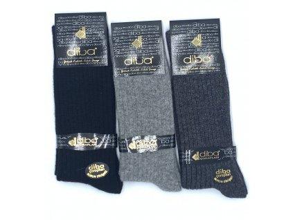 Diba - pánske jednofarebné vlnené ponožky