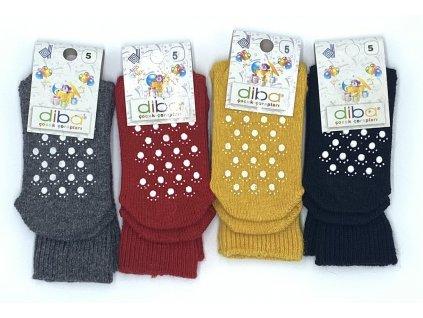 Diba - detské vlnené protišmykové ponožky, veľ.26-28, EU 5