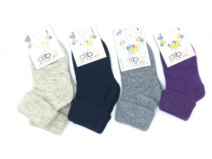 Diba - detské vlnené ponožky jednofarebné - veľkosť 20-22, EU 1