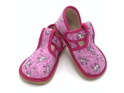 Beda Ružový koník - Slim - Papuče