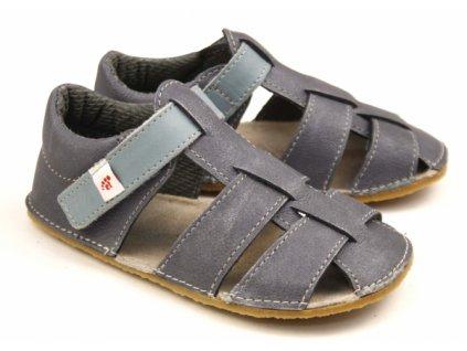 EF Barefoot Sivo-modré - Sandálky