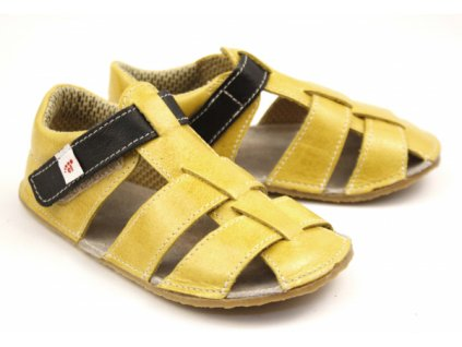 EF Barefoot Žlto-čierne - Sandálky