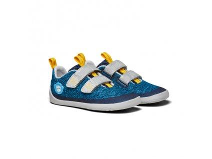 Affenzahn Minimal Lowcut Knit Velcro Shark - Tenisky