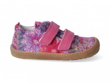 KOEL4kids Bernardo fuchsia flower - Celoročné topánky
