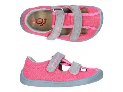 3F Barefoot Sivé - Sandálky