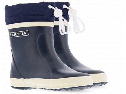 Bergstein Rainboot Winter Dark Blue - Zateplené gumáky