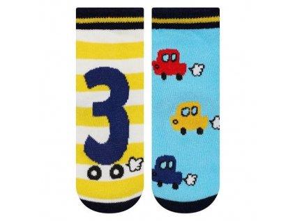 Soxo Autíčka - Protišmykové ponožky