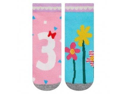 Soxo Kvietky - Protišmykové ponožky
