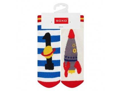 Soxo Vesmír - Protišmykové ponožky