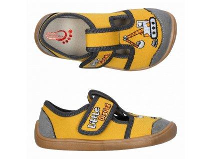 3F Barefoot Žlté 3BE3/4 - Papuče