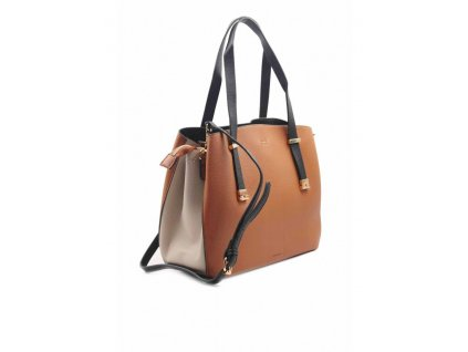 Kabelka Multi compartment Brown