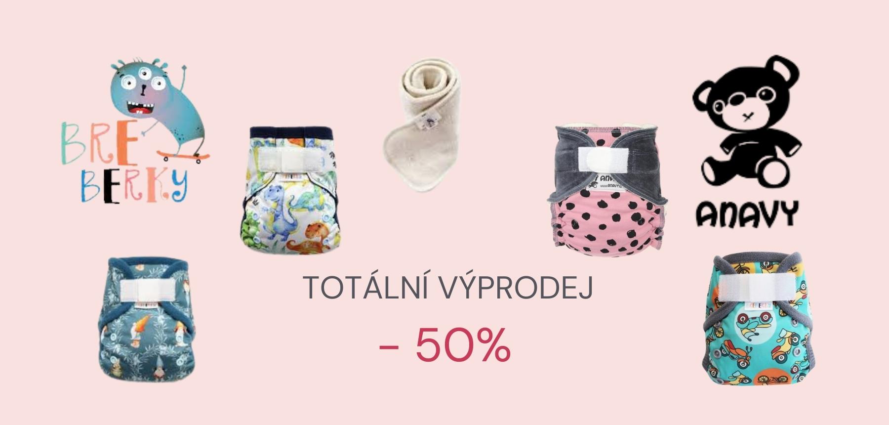 Látkové plenky - totální výprodej -50%